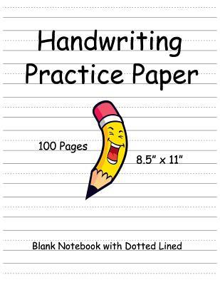 Handwriting Practice Paper: Kids Handwriting Paper Blank