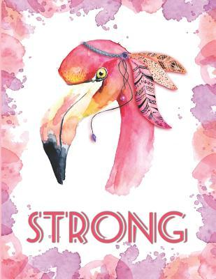 Strong Flamingo Notebook Cute Bohemian Lined Composition Book