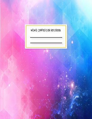 Wawa Composition Notebook: Abstract Futuristic Light 120 Notebook Lined Page Softcover Notes Journal College Ruled Composition Notebook ( 8.5''x11'' 120 Pages)
