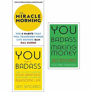 Miracle Morning, You Are a Badass, You Are a Badass at Making Money 3 Books Collection Set