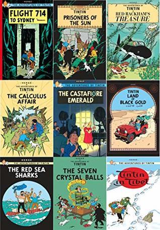 The Adventure of Tin Tin Series 1 (9 Books Collection Set : Calculus Affair, Castafiore Emerald, Rackham Treasure, Tintin in Toilet ...) Books for Childrens