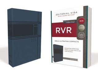RVR Santa Biblia Ultrafina Compacta, Soft-touch, Azul