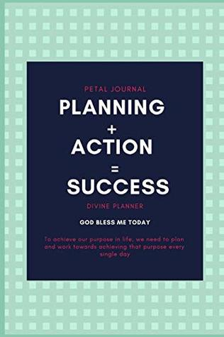 planning + action = success: 2019 - 2020 monthly planner, journal and notebook