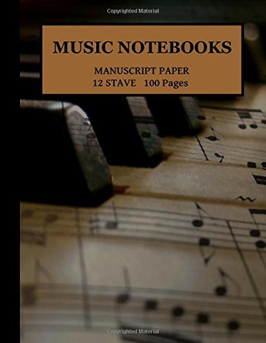Music Manuscript Paper/Notebook/Blank sheet music: 12 Stave 100 Pages 11x8.5 Piano-keys1
