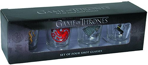 Game of Thrones: Set of Four Shot Glasses