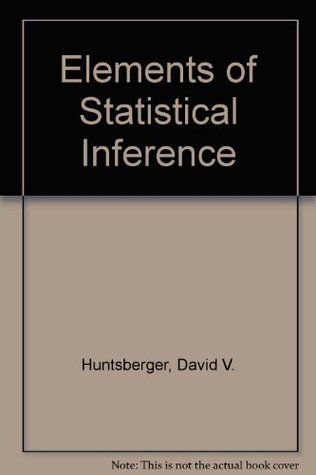 Elements of Statistical Inference