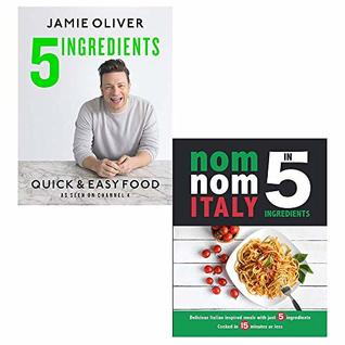 Jamie Quick and Easy [Hardcover], Nom Nom Italy In 5 Ingredients 2 Books Collection Set