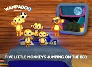 Five Little Monkeys Jumping on the Bed (picture book with song lyrics and coloring book): A picture book of Five Little Monkeys Jumping on the Bed