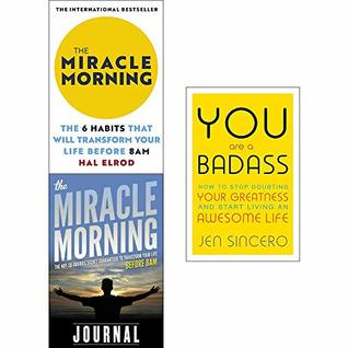 Miracle Morning, Journal, You Are a Badass 3 Books Collection Set