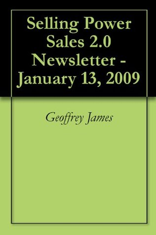 Selling Power Sales 2.0 Newsletter - January 13, 2009