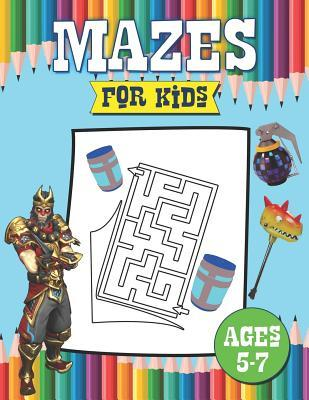 Mazes for Kids: Ages 5-7: Color and Solve Maze Activity Book for