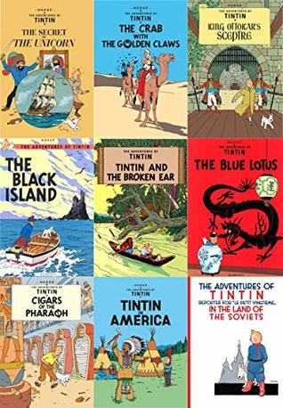 The Adventure of Tin Tin Series 2 (9 Books Collection Set: Secret of the Unicorn, Golden Claws, King Ottokar, Black Island, Broken Ear, Blue Lotus...)