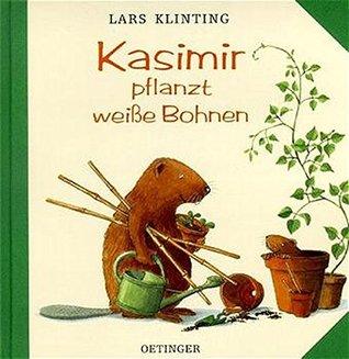 Kasimir pflanzt weiße Bohnen.