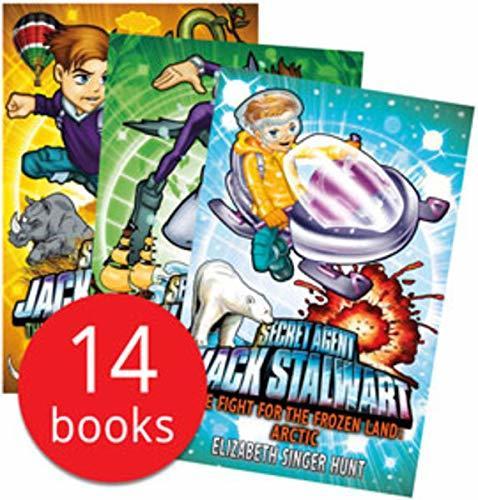 Secret Agent Jack Stalwart Collection 14 Books Set