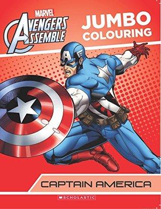 Captain America Jumbo Colouring