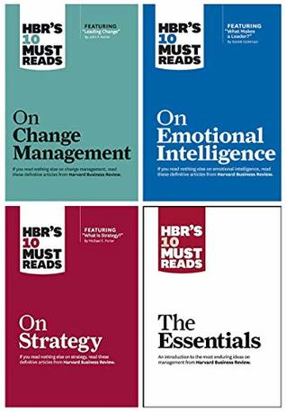 HBRs 10 Must Reads Leadership Collection 4 Books Set - The Essentials, Emotional Intelligence, Strategy, Change Management