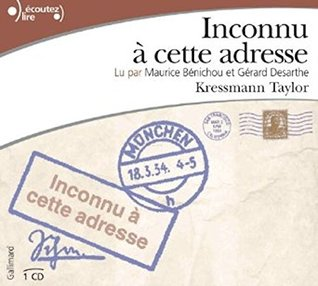 Inconnu a cette adresse Audiobook PACK [Book + 1 CD]