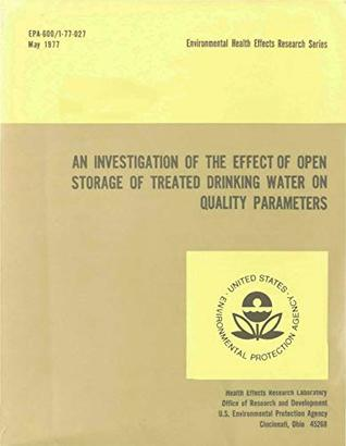 Investigation of the Effect of Open Storage of Treated Drinking Water on Quality Parameters
