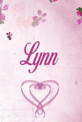 Lynn: Personalised Name Notebook/Journal Gift For Women & Girls 100 Pages (Pink Floral Design) for School, Writing Poetry, Diary to Write in, Gratitude Writing, Daily Journal or a Dream Journal.