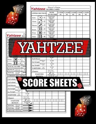 Yahtzee Score Sheets: 100 Yahtzee Score Pads, Game Record Score Keeper Book, Score Card