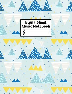 Blank Sheet Music Notebook: Easy Blank Staff Manuscript Book Large 8.5 X 11 Inches Musician Paper Wide 12 Staves Per Page for Piano, Flute, Violin, Guitar, Trumpet, Drums, Cello, Ukelele and other Musical Instruments - Code: A4 4328
