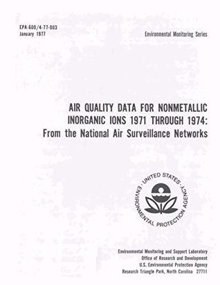 Air quality data for nonmetallic inorganic ions : NH4+ NO3- SO4=1976 from the National Air Surveillance Networks
