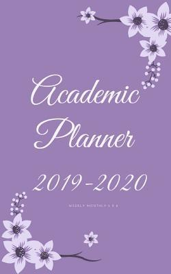 Academic Planner 2019-2020 weekly monthly 5 x 8: Purple Monthly