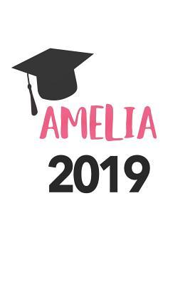 Amelia 2019: Blank Lined Journal Notebook, 120 Pages, Soft Matte Cover, 6 x 9