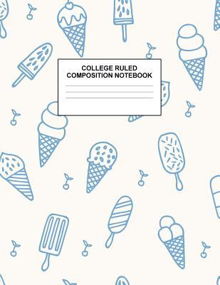 College Ruled Composition Notebook: Cute Blank Lined Journal to Write In with White Paper Rule Pages for School Subject and Writing Pad: Design Code A4 3616