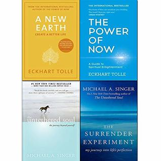 A New Earth, Power of Now, Untethered Soul, Surrender Experiment 4 Books Collection Set