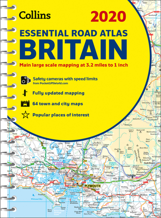 2020 Collins Essential Road Atlas Britain and Northern Ireland