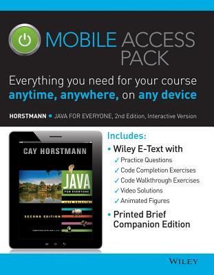 Java for Everyone: Late Objects 2e Mobile Access Pack