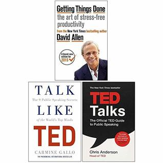 Getting Things Done, Ted Talks, Talk Like Ted 3 Books Collection Set