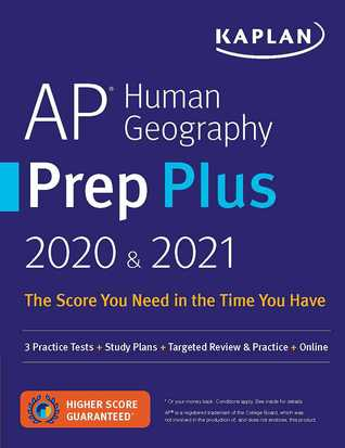 AP Human Geography Prep Plus 2020  2021: 3 Practice Tests + Study Plans + Review Notes + Online Resources