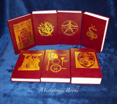 SEVEN PILLARS OF OCCULT WISDOM: Seven Volumes (Deluxe Leather Bound Seven Volume Edition in Custom Slipcase)