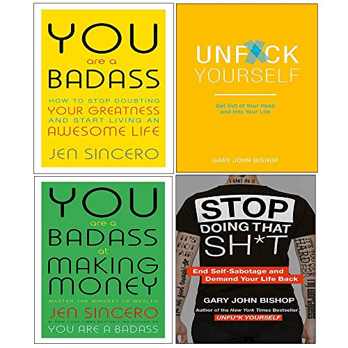 Stop Doing That Sht, unfuk yourself, You Are A Badass And At Making Money 4 Books Collection Set