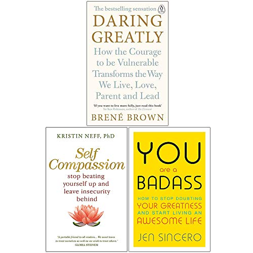Daring Greatly, Self Compassion, You Are a Badass 3 Books Collection Set