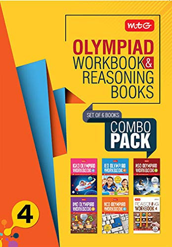 Class 4: Work Book and Reasoning Book Combo for NSO-IMO-IEO-NCO-IGKO (2019-20)