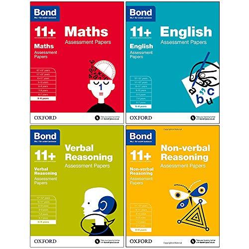 Bond 11+: Assessment Papers, 5-6 years Bundle: English, Maths, Non-verbal Reasoning, Verbal Reasoning