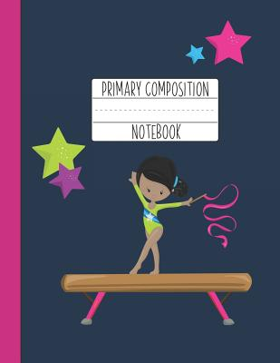 Primary Composition Notebook: A Purple Gymnastics Primary Composition Notebook For Girls Grades K-2 Featuring Handwriting Lines