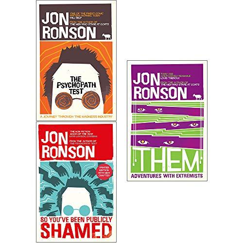 Jon Ronson Collection 3 Books Bundle
