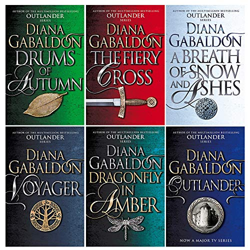 Outlander Series Collection 6 Books Set By Diana Gabaldon (Outlander, Dragonfly In Amber, Voyager, Drums Of Autumn, The Fiery Cross, A Breath Of Snow And Ashes)