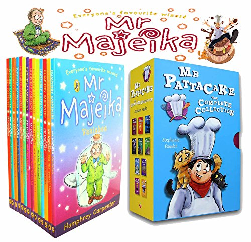 Mr Mr Majeika & Mr Pattacake Collection 24 Books Set (Mr Majeika,the School Trip,Mr Majeika and the Lost Spell Book,the Ghost Train, the Dinner Lady, the School Caretaker, the Music Teacher...)