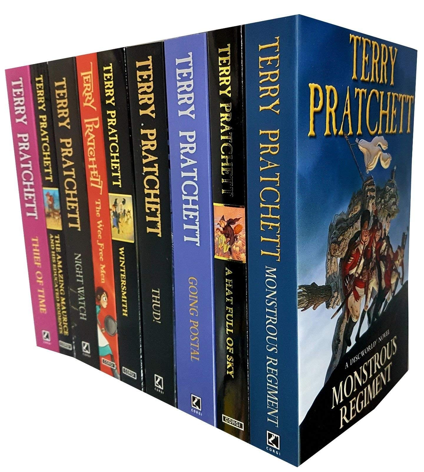 Terry Pratchett Discworld Collection 7 Books Set