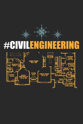 #CivilEngineering: Civil Engineer circuit diagram ruled Notebook 6x9 Inches - 120 lined pages for notes, drawings, formulas - Organizer writing book planner diary