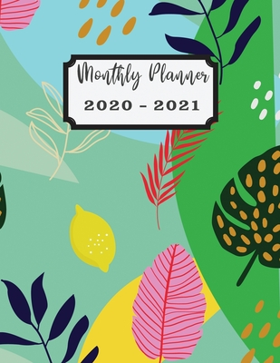2020-2021 Planner: 2 Years Planner Calendar Personalized January 2020 up to December 2021 Contains extra lined pages to record notes Design cover Color tropical flower