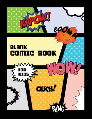 Blank Comic Book for Kids: Let's draw your own comic.
