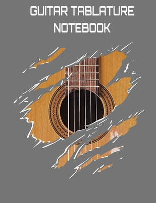 Guitar Tablature Notebook: Acoustic Guitar Themed 6 String Guitar Chord and Tablature Staff Music Paper for Guitar Players, Musicians, Teachers and Students (8.5x11 - 150 Pages) (Guitar Manuscript Books)