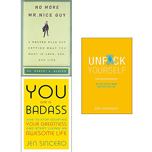 No more mr nice guy [hardcover], you are a badass jen sincero, unfck yourself 3 books collection set