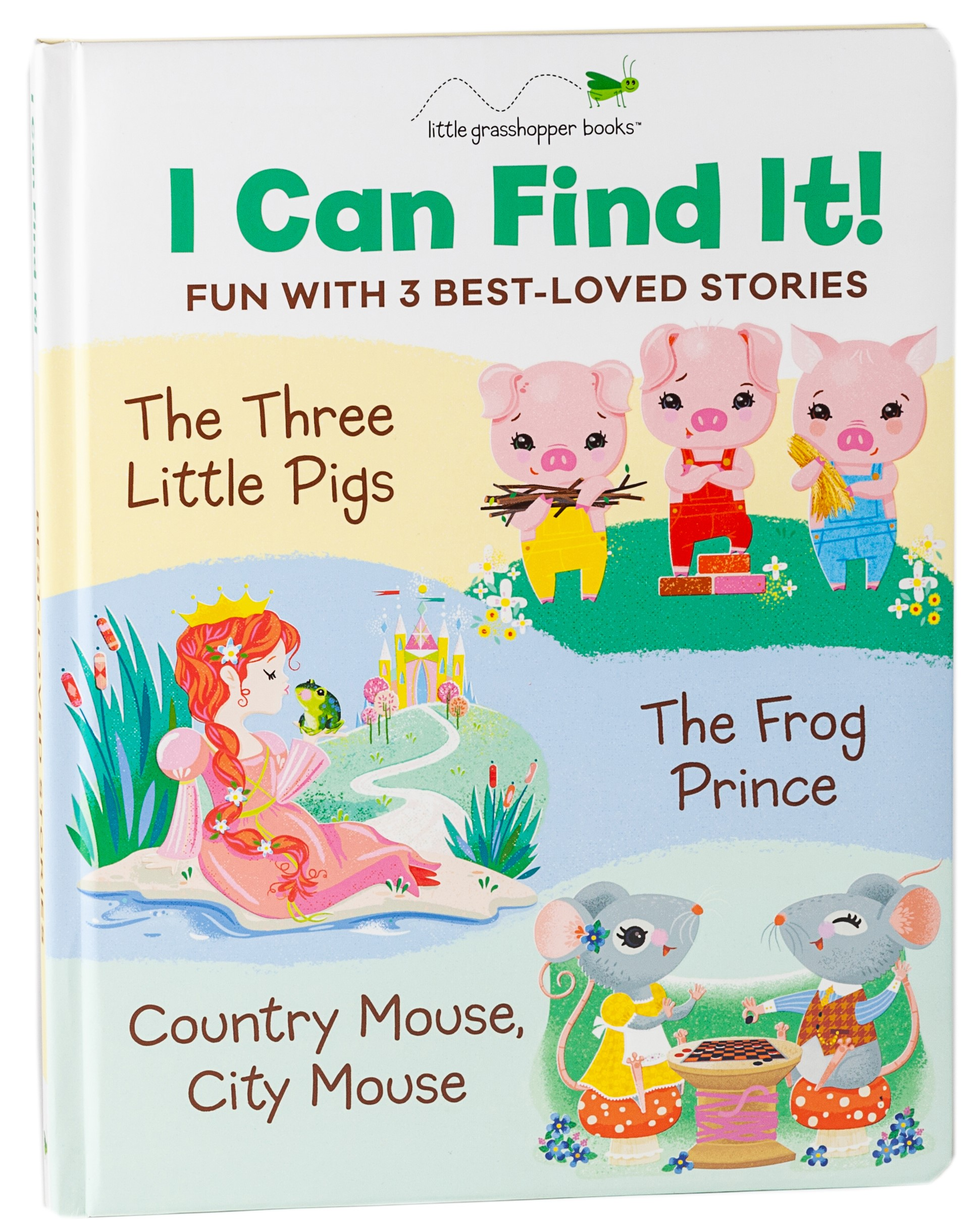 I Can Find It! Fun with 3 Best-Loved Stories (Book 3 Downloadable Apps!): The Three Little Pigs, The Frog Prince, Country Mouse City Mouse